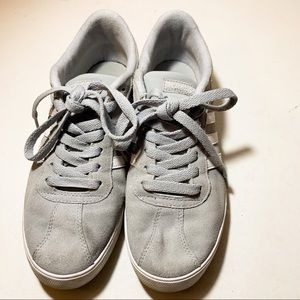 Adidas gray suede sneakers